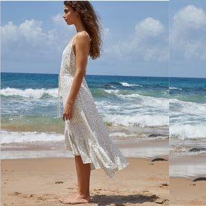 Rails | Frida Ivory Speckled Dot Midi Dress XS